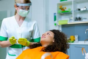 dentist in PPE